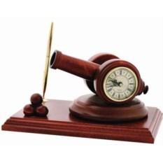 Настольные часы с ручкой Пушка
