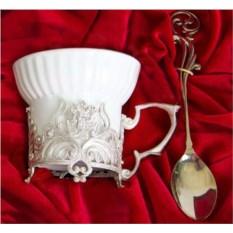 Чашка с художественным литьем Герб