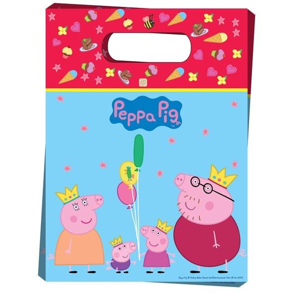 Пакет для подарков «Пеппа-принцесса»