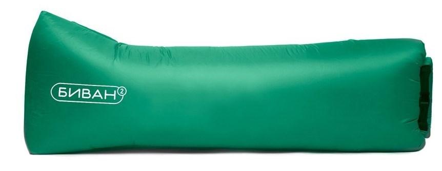 Зеленый надувной диван Биван промо