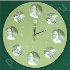 Настенные часы-фоторамка Зеркало семьи