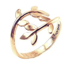 Кольцо Лавровая веточка из золота 585 пробы