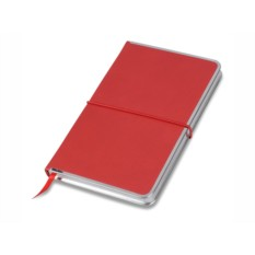 Красный блокнот Silver Rim