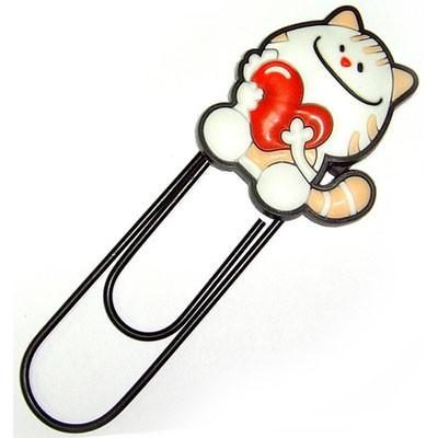 Закладка-скрепка «Котёнок с сердечком»