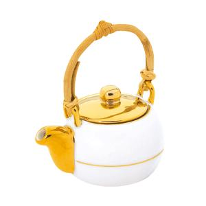 Чай черный в чайнике с бамбуковой ручкой (полузолотом)
