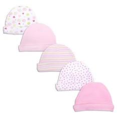 Комплект шапочек для новорождённых из 5 штук