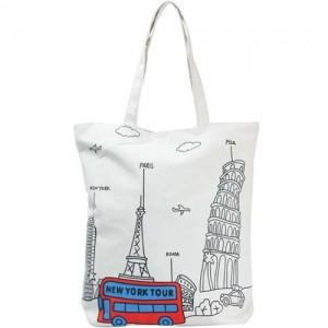 Легкая шоппинг-сумка Нью Йорк (белая)