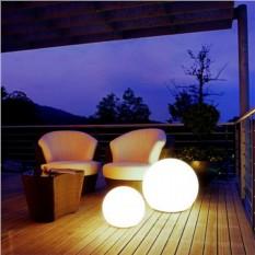 Проводной белый светящийся шар 80см