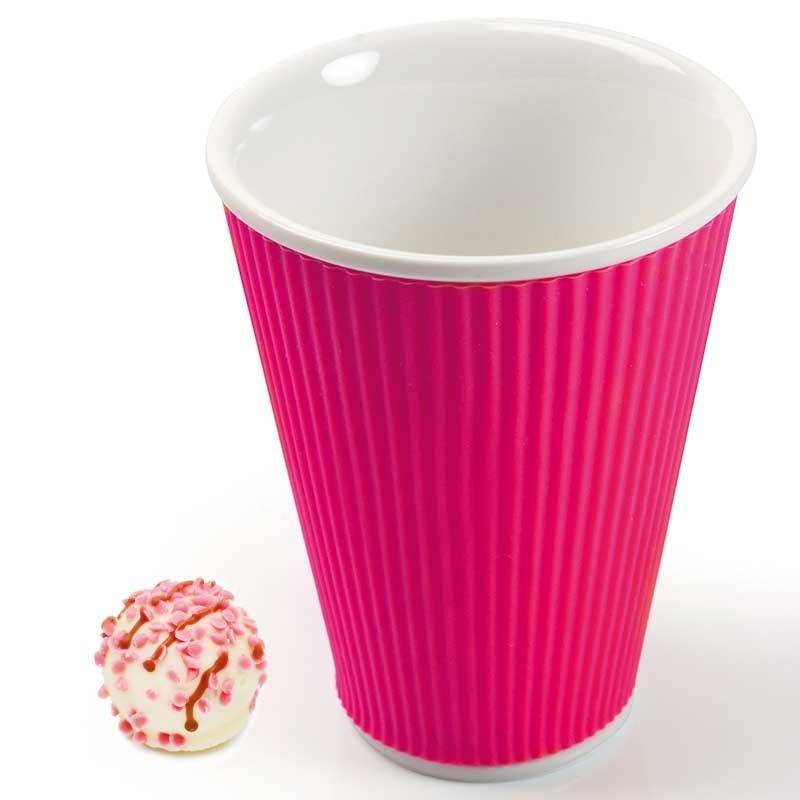 Розовая чашка Ondules