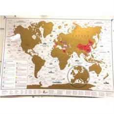 Стирательная карта Мира (русский язык)