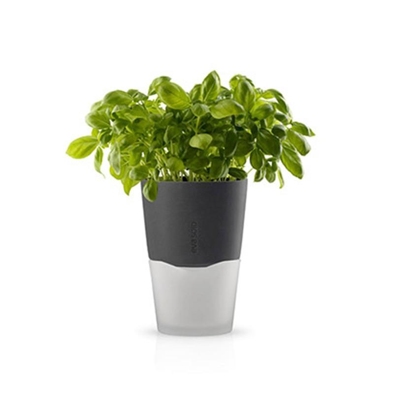 Серый горшок для растений с естественным поливом Herb pot