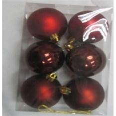 Красный набор ёлочных игрушек Шары