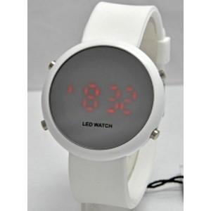 Часы наручные LED Watch круглые H6109-1 белые