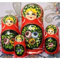 Набор русских матрешек Цветы