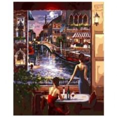 Картина-раскраска по номерам на холсте В ожидании
