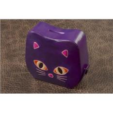 Копилка Фиолетовая кошка