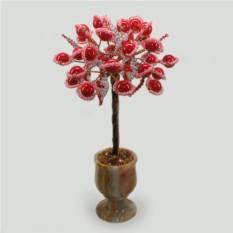 Дерево из красного коралла Семейные радости