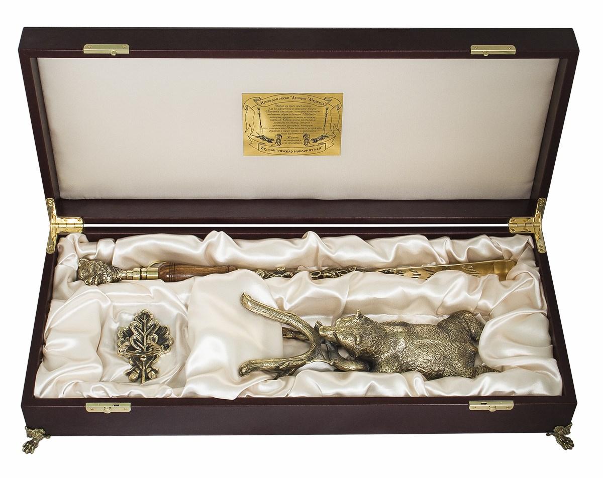 Набор для обуви Медведь в подарочном ларце