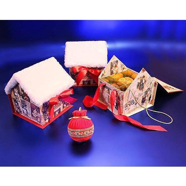Набор конфет «Новогодний мини-домик с чаем»