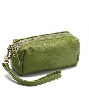 Косметичка Double zip (зеленая)