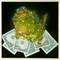 Картина с кристаллами Swarovski Жаба с долларами