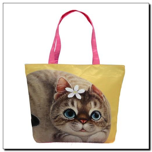 Легкая женская сумка с изображением кошки Энни