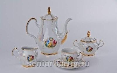 Кофейный сервиз Bernadotte (Бернадот Мадонна) на 6 персон