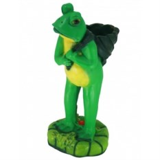 Садовая фигура-кашпо Стоячая лягушка