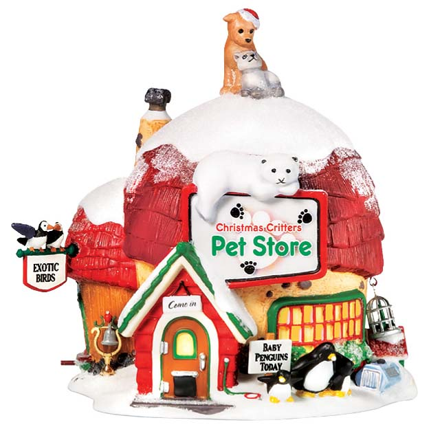 Новогодний сувенир «Дом новогодних животных»