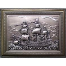 Картина из металла Корабль