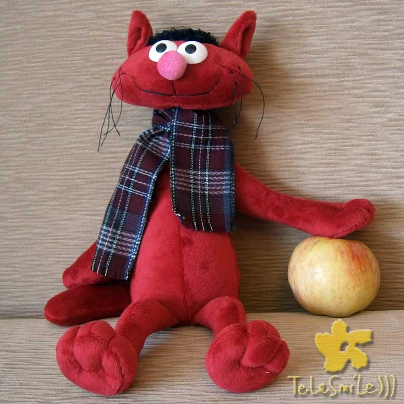 Говорящая игрушка Кот Федя (красный)