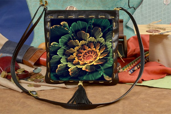 Женская сумка-планшет с принтом Красивый цветок