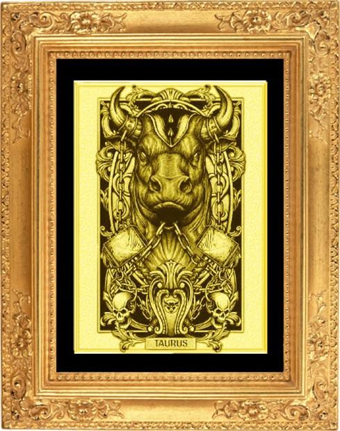 Картина из золота Телец