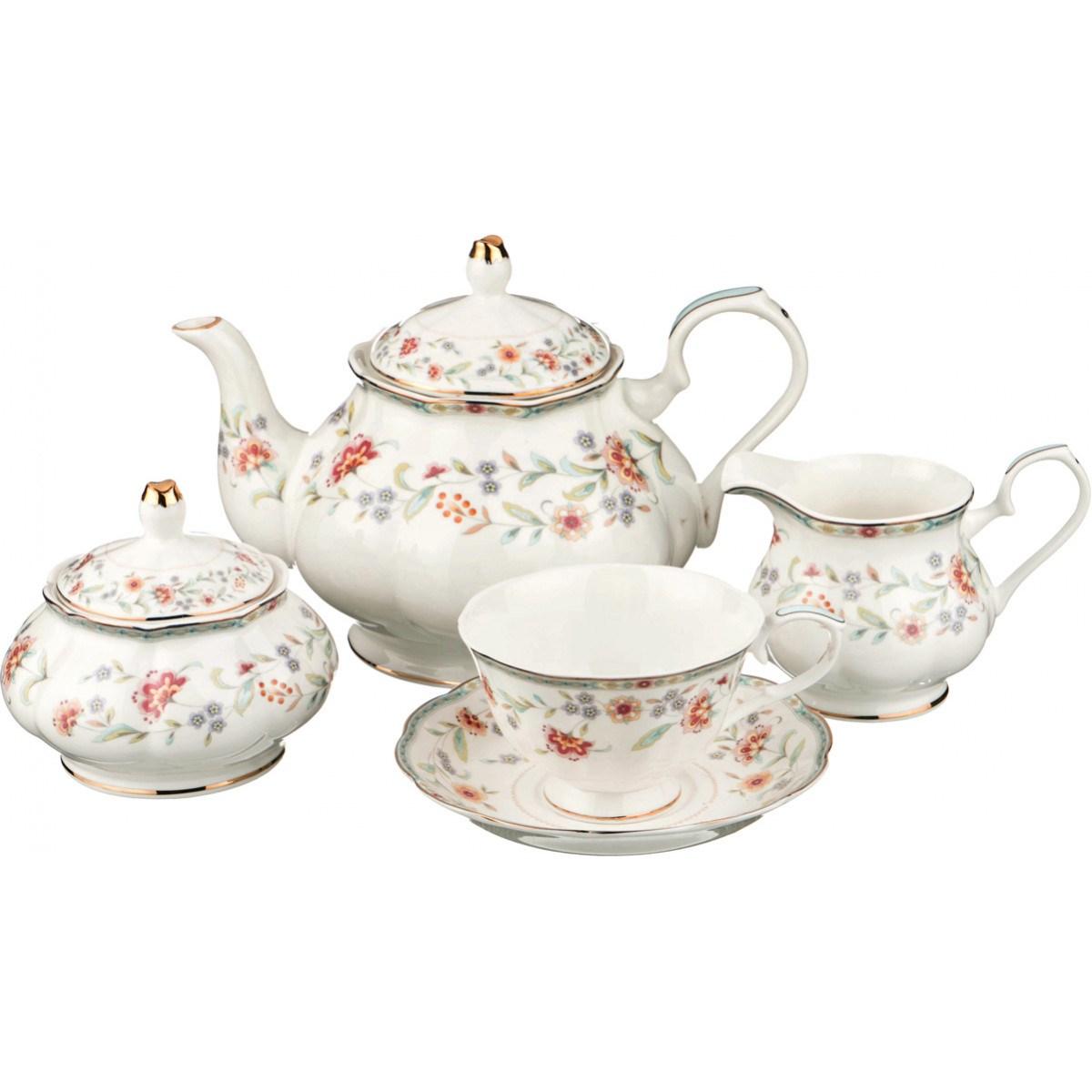Чайный сервиз Весенний на 6 персон