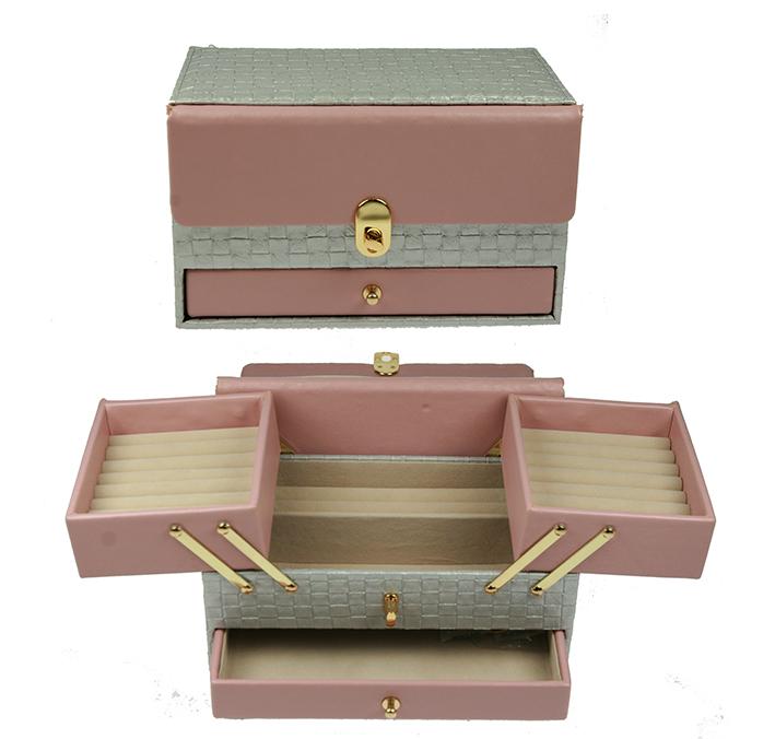 Бело-розовая шкатулка для ювелирных украшений CALVANI