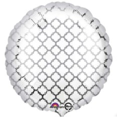 Шар-круг с узором серебром
