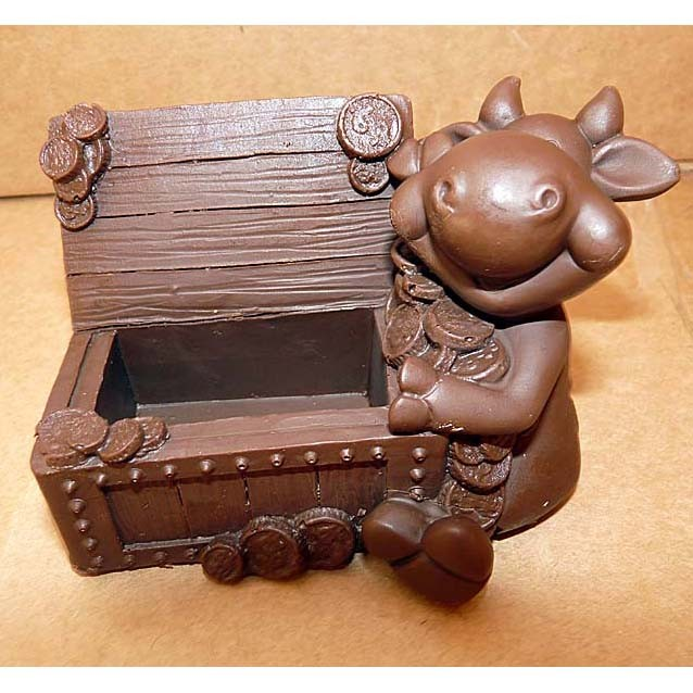 Шоколадная фигурка «Бычок с сундуком»