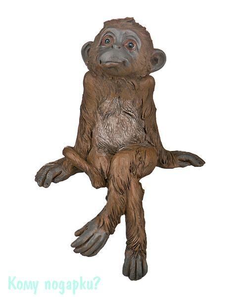 Фигурка «Сидящая обезьяна» (9x5x13 см)