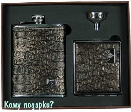 Подарочный набор VIRON: фляжка, воронка, портсигар