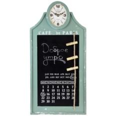 Настенные часы с календарем и мемо-доской Антик