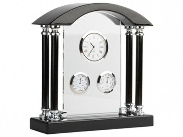 Погодная станция «Нобель» с часами, термометром и гигрометром