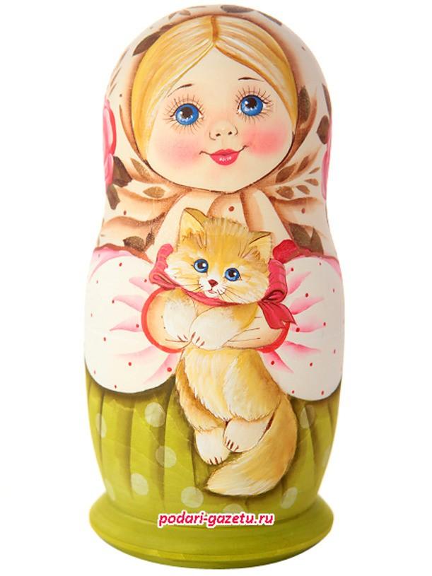 Набор матрешек «Машенька с котиком»