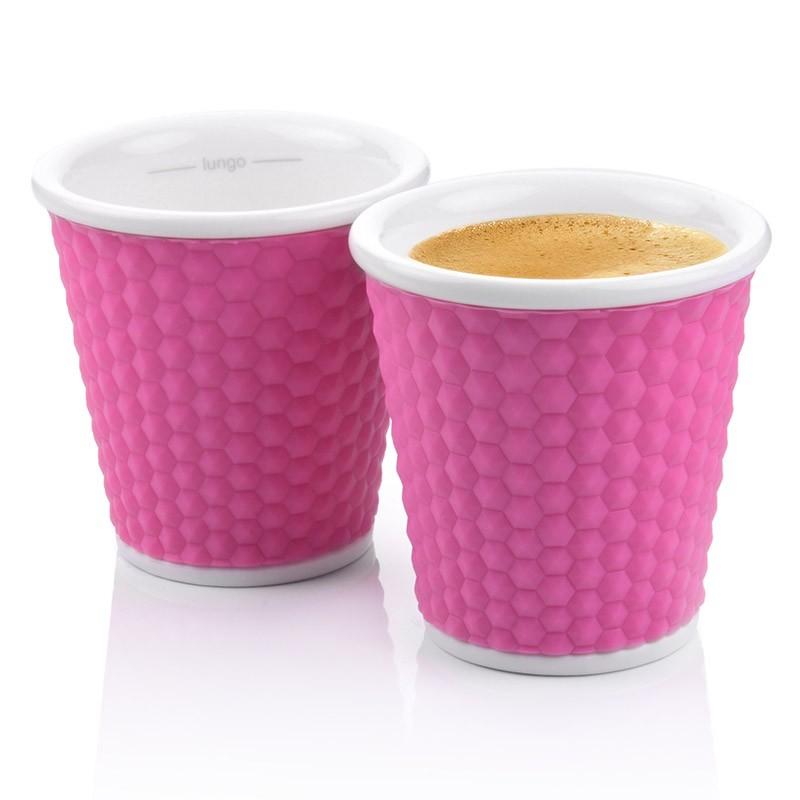 Набор чашек Honeycomb 100 мл, розовый