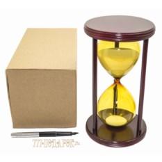 Песочные часы на 30 минут (белый песок, желтая колба)