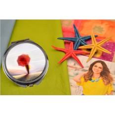 Карманное зеркальце Девочка с красным зонтиком