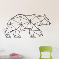 Наклейка на окно и стену Медведь