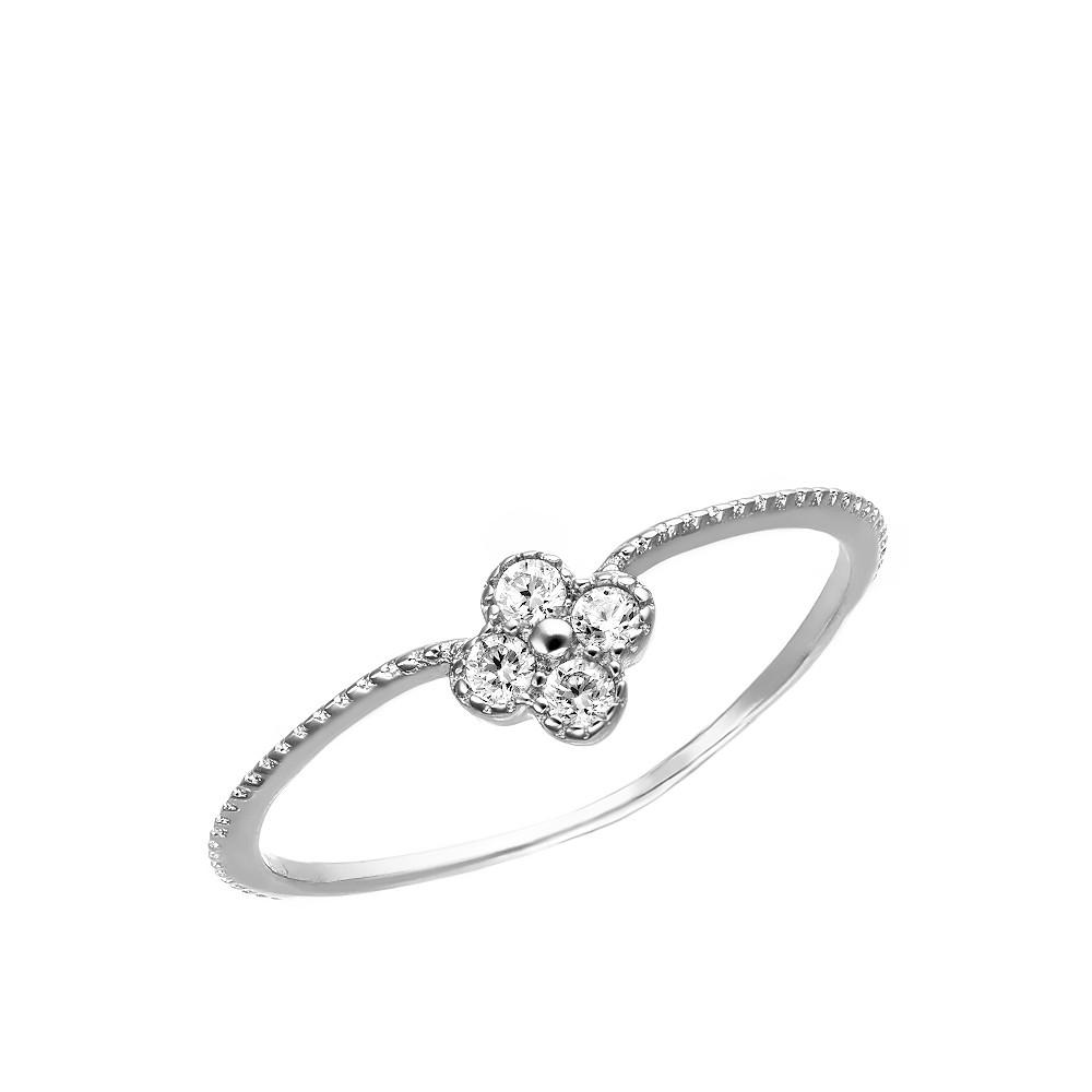 Серебряное кольцо с фианитами на верхнии фаланги пальцев