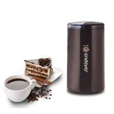 Коричневая электрическая кофемолка Endever Costa