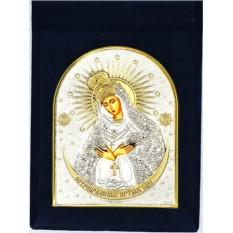 Виленская Остробрамская икона Божьей Матери, серебро