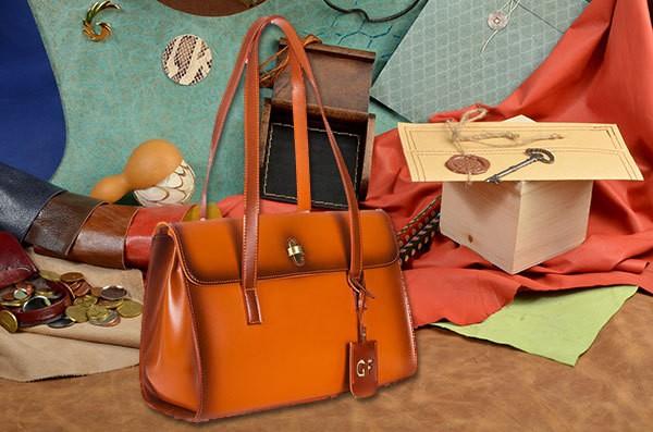 Кожаная коричневая сумка из коллекции Giorgio Ferretti